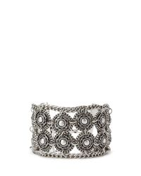 Forever 21 - Metallic Etched Faux Stone Hinge Bracelet - Lyst