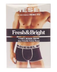DIESEL | Black Hero Cotton Trunk for Men | Lyst