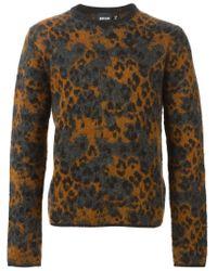 Just Cavalli - Gray Leopard Pattern Sweater for Men - Lyst