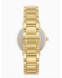Kate Spade | Metallic Gramercy Gold Dot Watch | Lyst