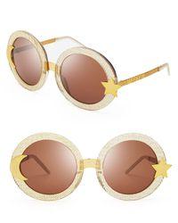 Wildfox - Metallic Luna Sunglasses - Lyst