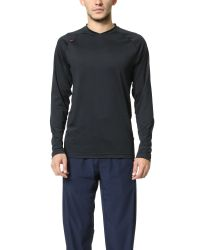 Rhone | Black Sentinel Long Sleeve Active Tee for Men | Lyst