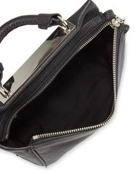 3.1 Phillip Lim - Black Ryder Small Leather Satchel Bag - Lyst
