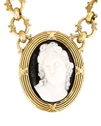 KTZ | Metallic Cameo Necklace | Lyst
