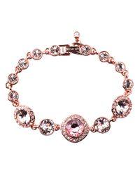 Givenchy | Pink Rose Gold And Vintage Rose Swarovski Crystal Flex Bracelet | Lyst