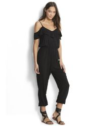 Seafolly Black Ruffle Off Shoulder Jumpsuit
