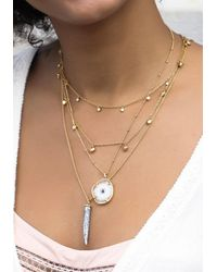 Beach Cafe | Metallic Snowflake Agate Necklace | Lyst