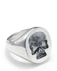 Deakin & Francis | Metallic Silver Skull Signet Ring for Men | Lyst