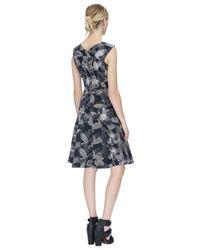 Rebecca Taylor - Black Sonic Garden V-neck Dress - Lyst