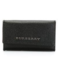 Burberry - Black Foldover Keychain - Lyst
