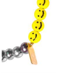 Nektar De Stagni - White Smileyface Pearl Bracelet - Lyst