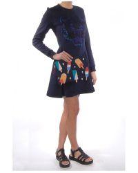 KENZO - Black Icon Cotton Sweatshirt Dress  - Lyst