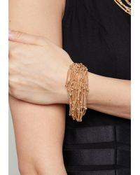Bebe - Multicolor Chain & Bead Bracelet - Lyst