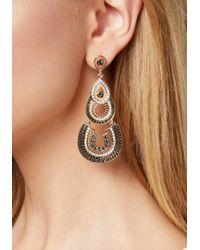 Bebe - Metallic Layered Drop Earrings - Lyst