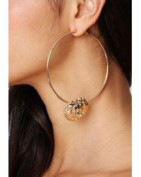 Bebe - Metallic Lion Hoop Earrings - Lyst