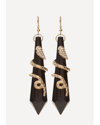 Bebe - Multicolor Snake Pendant Earrings - Lyst