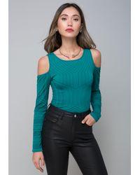 Bebe - Multicolor Trina Cold Shoulder Top - Lyst
