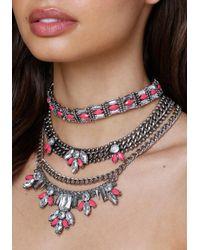 Bebe | Multicolor Choker & Statement Necklace | Lyst
