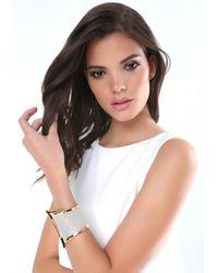 Bebe - Metallic Glitter Hinge Bracelet - Lyst