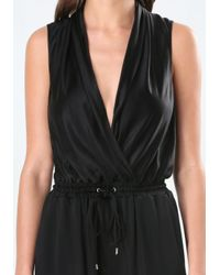 Bebe - Black Jet Laque Jumpsuit - Lyst