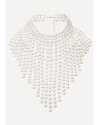 Bebe | White Fringe Necklace | Lyst