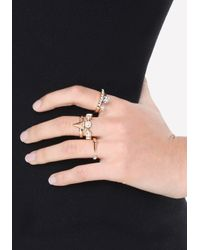 Bebe - Metallic Geo Cutout Ring Set - Lyst