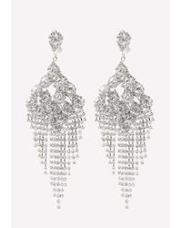 Bebe - Metallic Crystal Chandelier Earrings - Lyst
