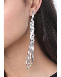 Bebe | Metallic Braided Crystal Earrings | Lyst