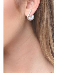 Bebe | Multicolor Bar & Faux Pearl Earrings | Lyst