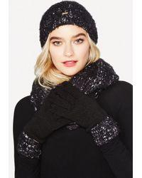 Bebe - Black Hat, Gloves & Scarf Set - Lyst