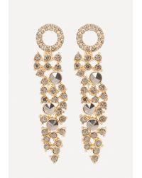 Bebe | Metallic Dark Crystal Earrings | Lyst