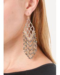 Bebe - Metallic Beaded Fringe Earrings - Lyst