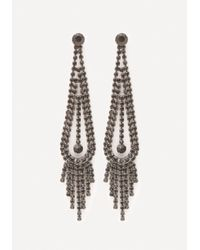 Bebe | Multicolor Fringe Teardrop Earrings | Lyst