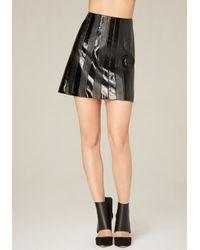 Bebe | Black Combo Miniskirt | Lyst