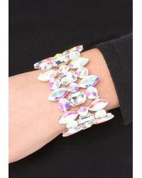 Bebe - Multicolor Ab Crystal Stretch Bracelet - Lyst
