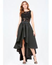 Bebe | Black Penelope Lace Hi-lo Dress | Lyst