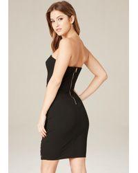 Bebe | Black Taryn Grommet Hem Dress | Lyst