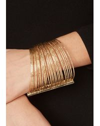 Bebe | Metallic Connected Bangle Bracelet | Lyst