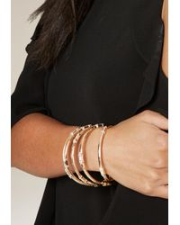 Bebe - Multicolor Baguette Bangle Set - Lyst