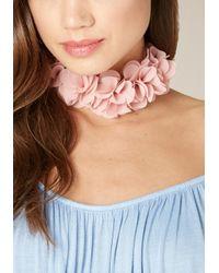 Bebe | Pink Fabric Flower Choker | Lyst