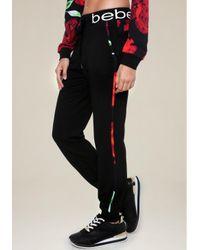 Bebe | Black Brooklyn Jogger Pants | Lyst