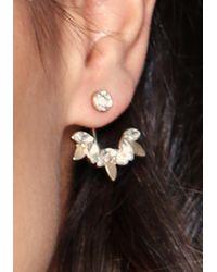 Bebe - Metallic Crystal Cluster Ear Jackets - Lyst