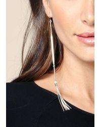 Bebe - Metallic Tassel Linear Earrings - Lyst
