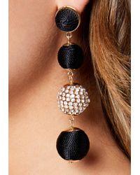 Bebe - Black Ball Earrings - Lyst