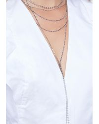 Bebe - Metallic Layered Chain Necklace - Lyst