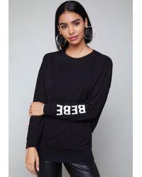 Bebe | Black Logo Back Cutout Sweatshirt | Lyst