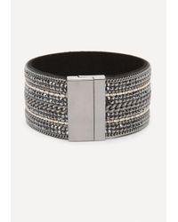 Bebe - Multicolor Crystal & Chain Cuff - Lyst