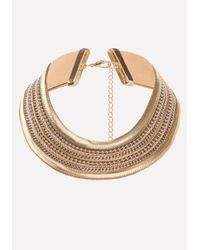 Bebe - Metallic Metal Statement Necklace - Lyst