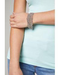 Bebe - Metallic Chain & Bead Bracelet - Lyst