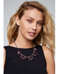 Bebe - Multicolor Ombre Cluster Necklace - Lyst